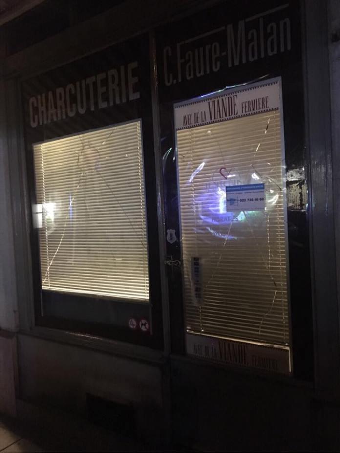 Una carnicería fue objetivo de un sabotaje en Suiza.