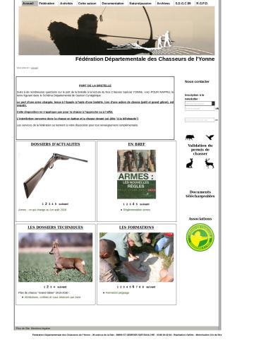 Fédération Départementale des Chasseurs de lYonne-Accueil_ - www.chasseurdelyonne.fr
